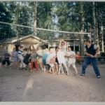Huhtakari lastenleiri köydenvetoa